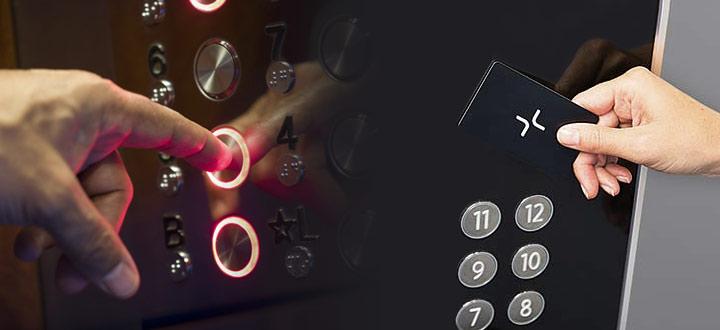 Aсансьор с контрол на достъп - чип за асансьор