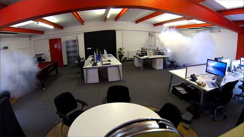 защитна мъгла в офис